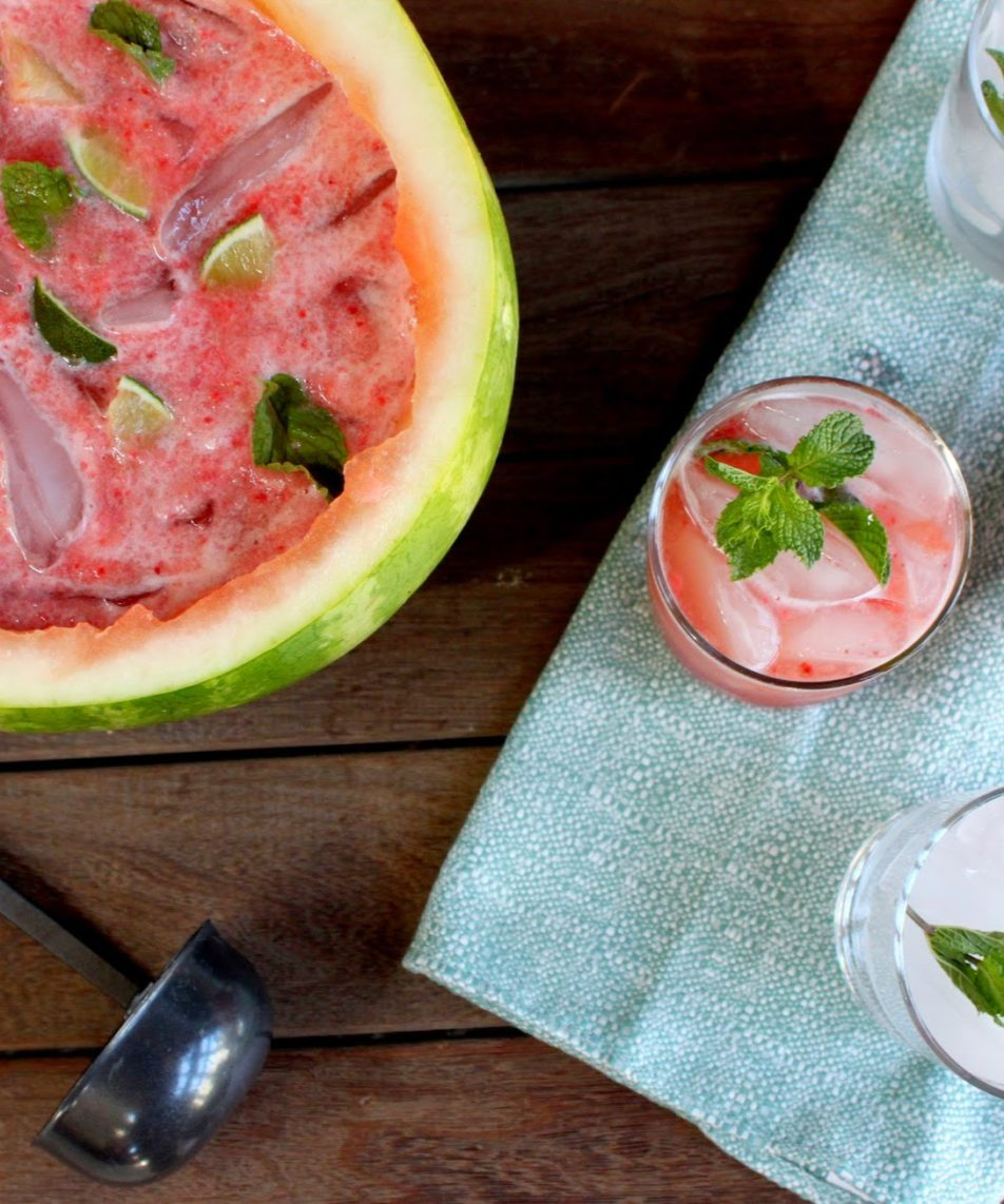 Sparkling Watermelon Punch & Bowl