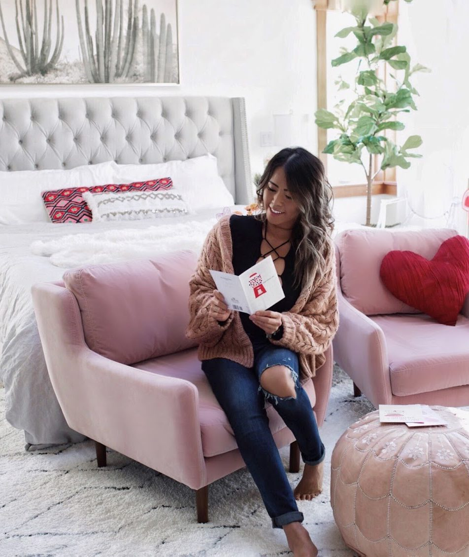 Valentine's Day + Article Pink Accent Chair (Sale!)