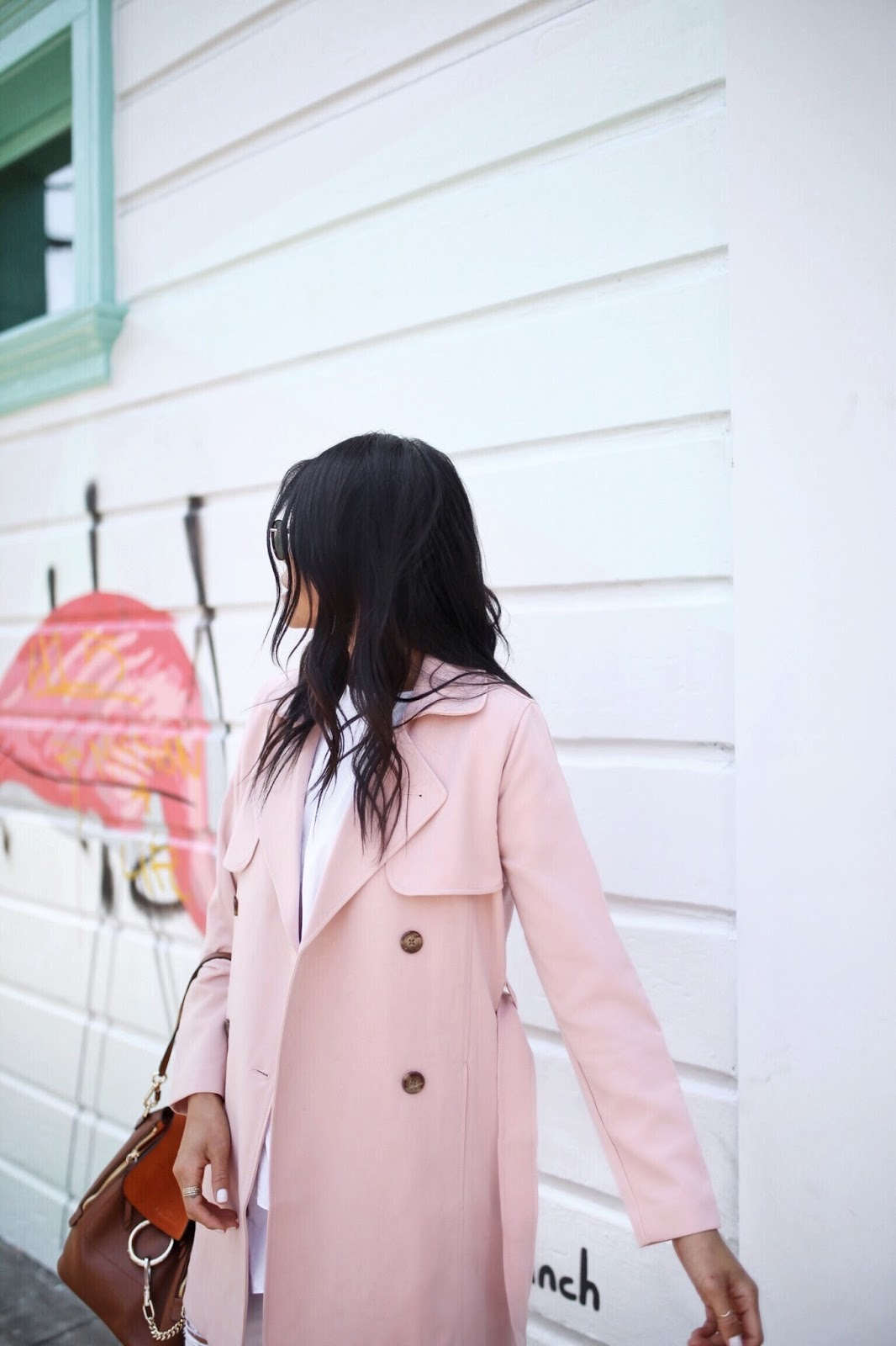 Blush Pink Trench Coat | Gypsy Tan