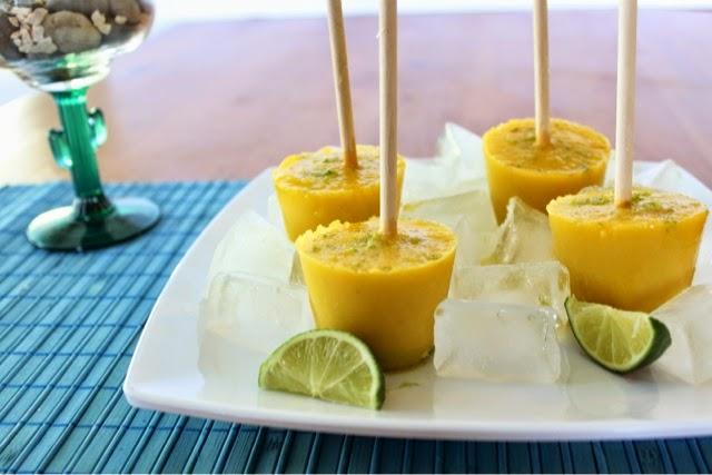 Jalapeño Mango Margarita Popsicle