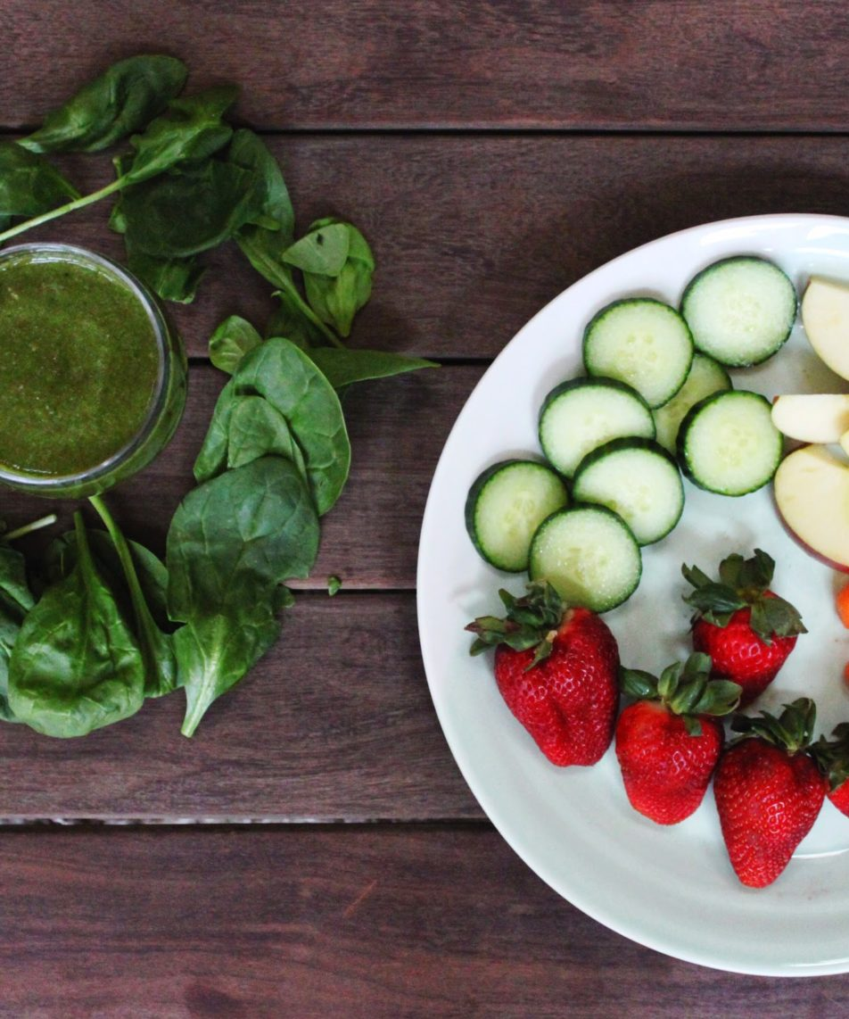 Cucumber-Lime Fruit Green Smoothie