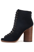 Jeffrey Campbell The Free Love Heel Lace Up Booties in Black