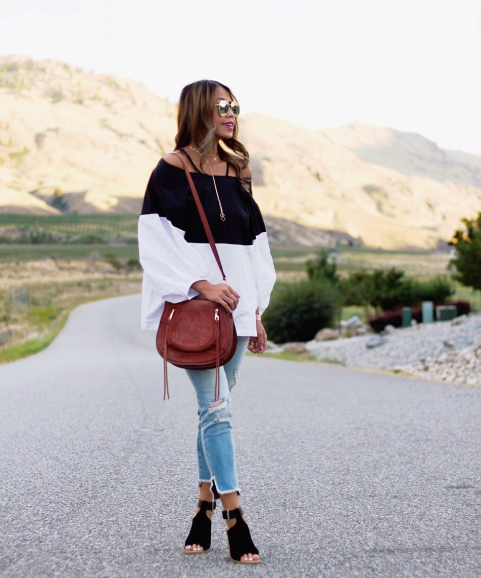 How To Wear Off-The-Shoulder Trend for Fall