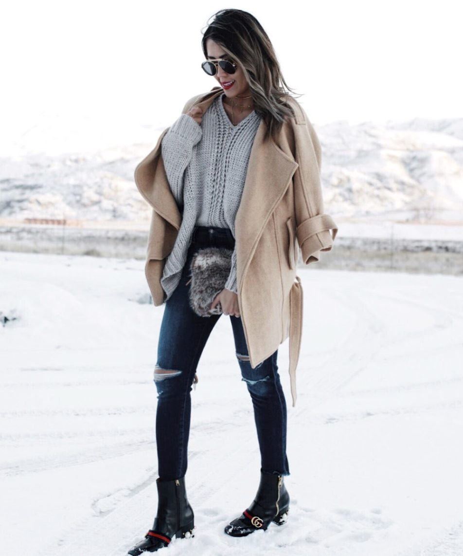 Winter Essentials: Camel Coat + Oversized Sweater