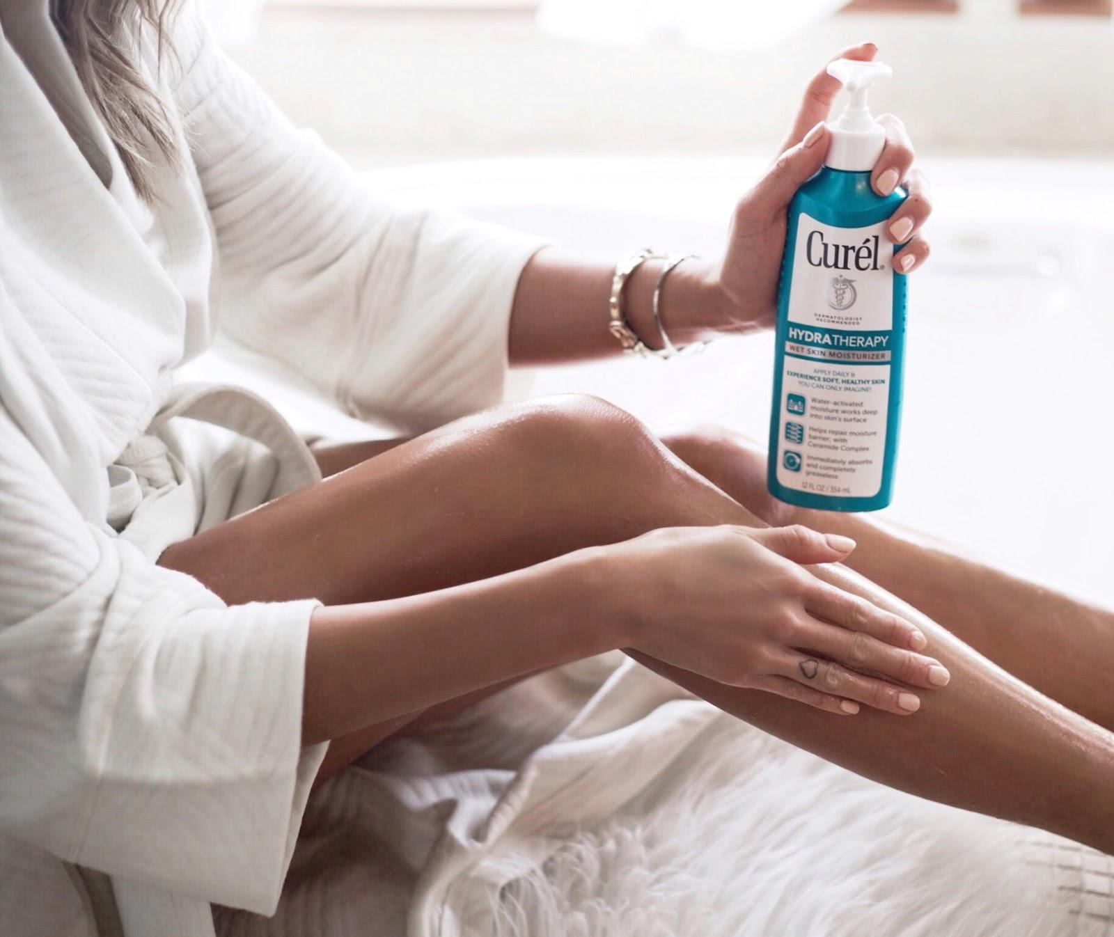 curel wet skin moisturizer