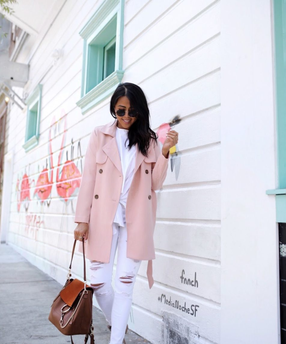 Why You Need this Blush Pink Trench Coat
