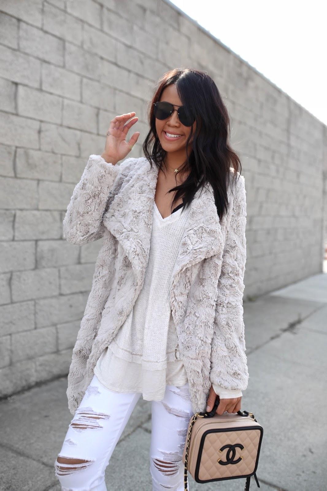 BB Dakota Tucker Wubby Faux Fur Coat Gypsy Tan