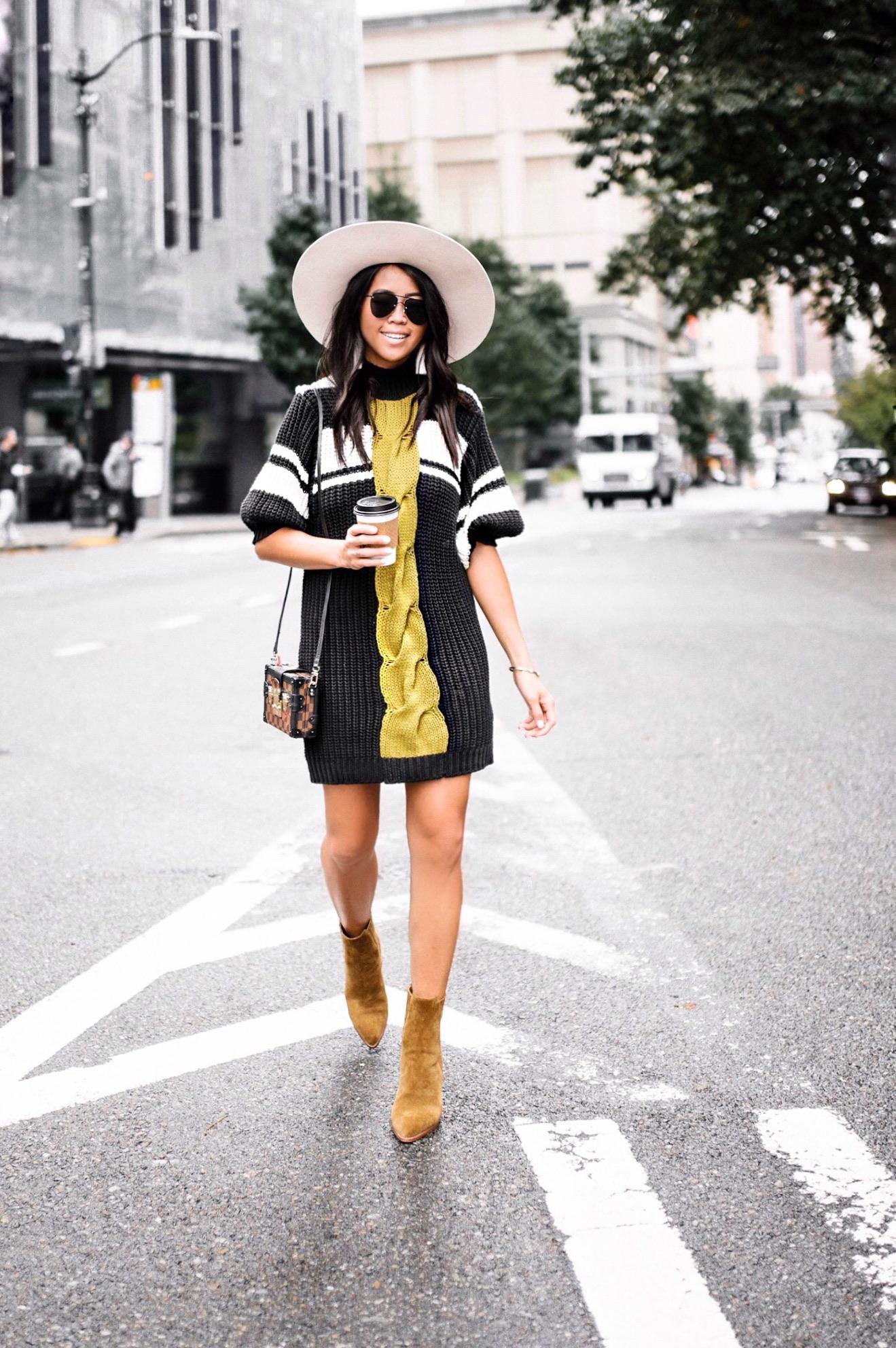 Free People Sweater Dress Fall Gypsy Tan