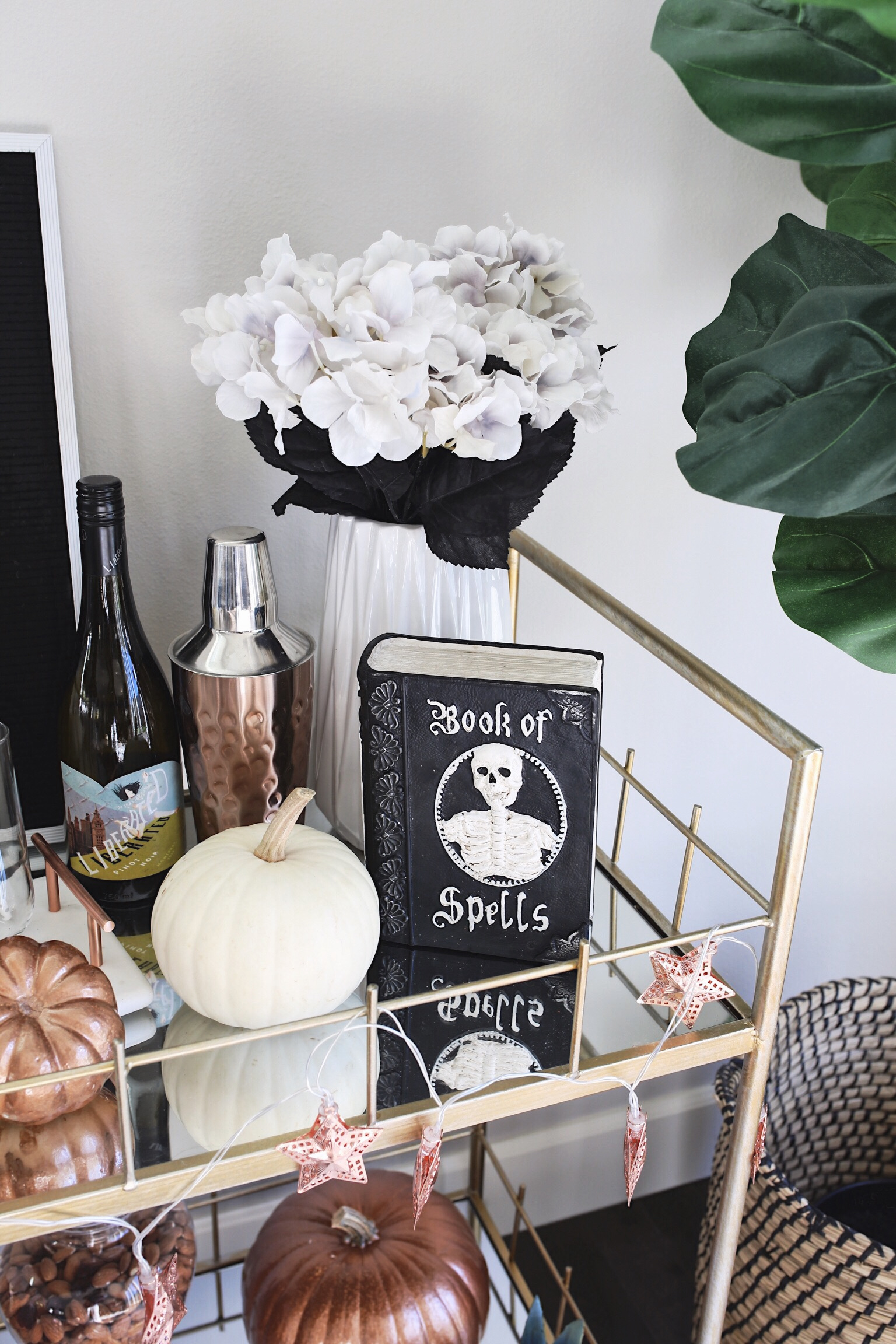 Bar Cart Decor Ideas Halloween