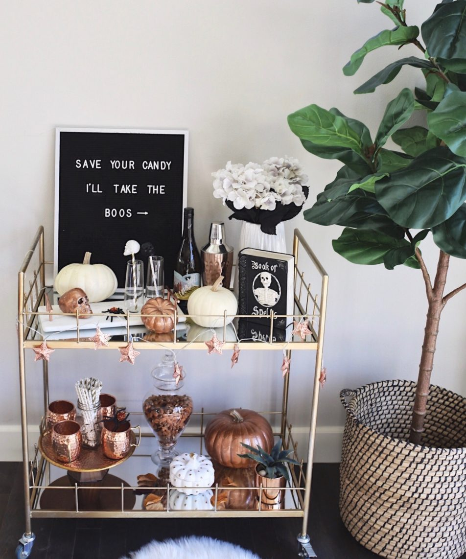 How To Style A Bar Cart: Halloween Edition