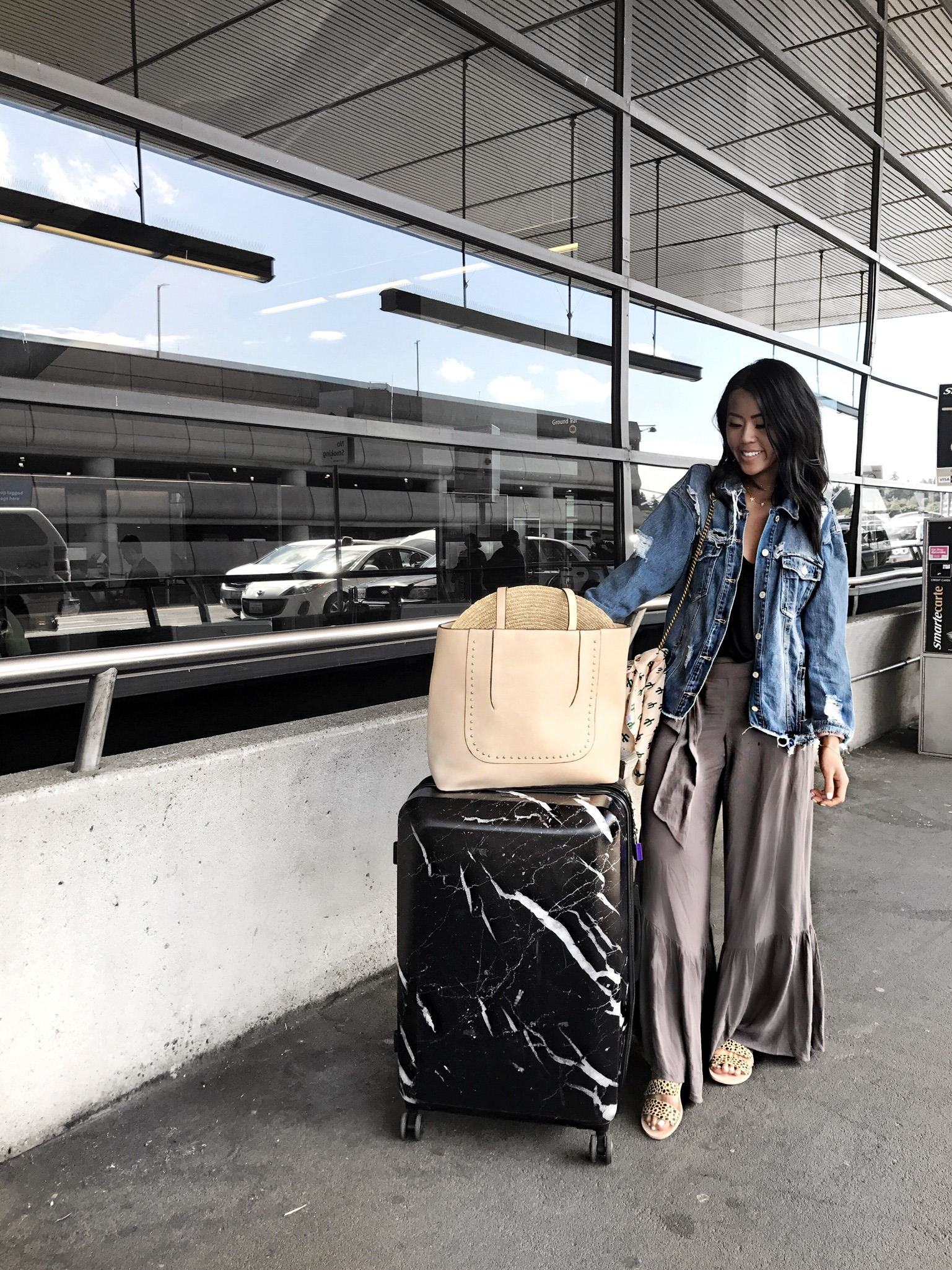 Calpak Marble Luggage