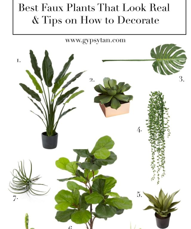 ddedfd69bf7 Best Realistic Faux Plants for Your Home   Tips on How to Decorate Where to  Buy ...