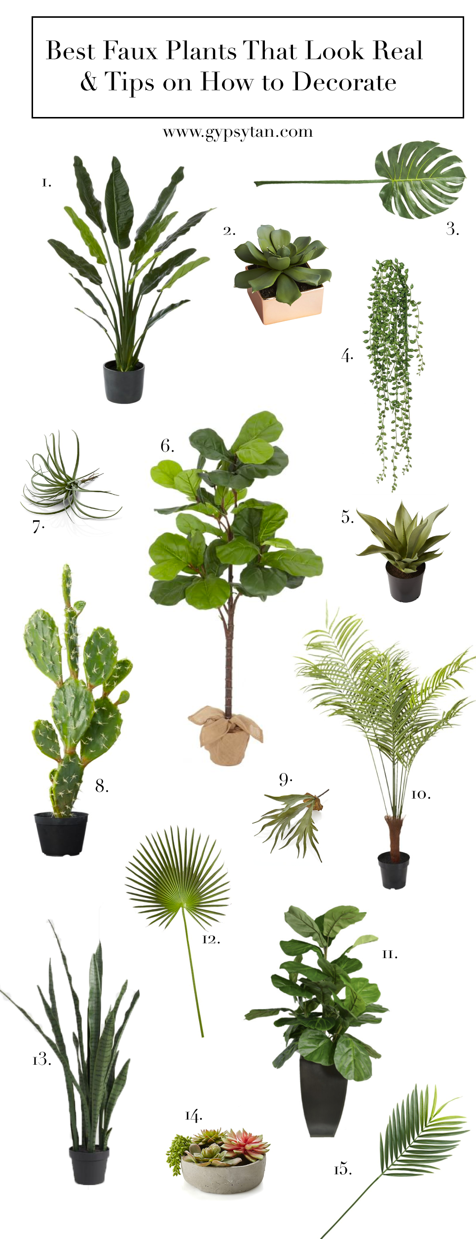 Best Realistic Faux Plants for Your Home & Tips on How to Decorate