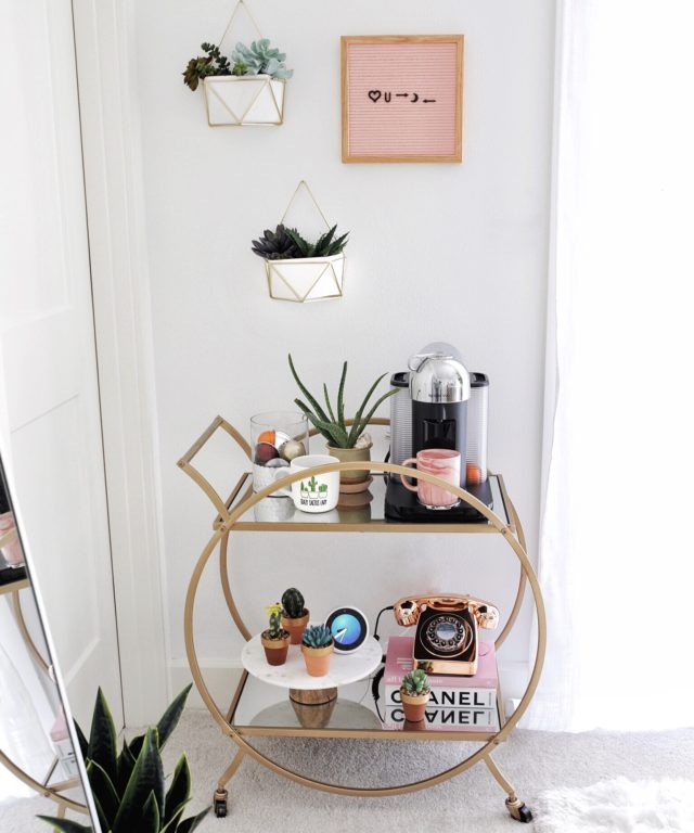 Bar Cart Ideas: How to Style a Bar Cart without alcohol