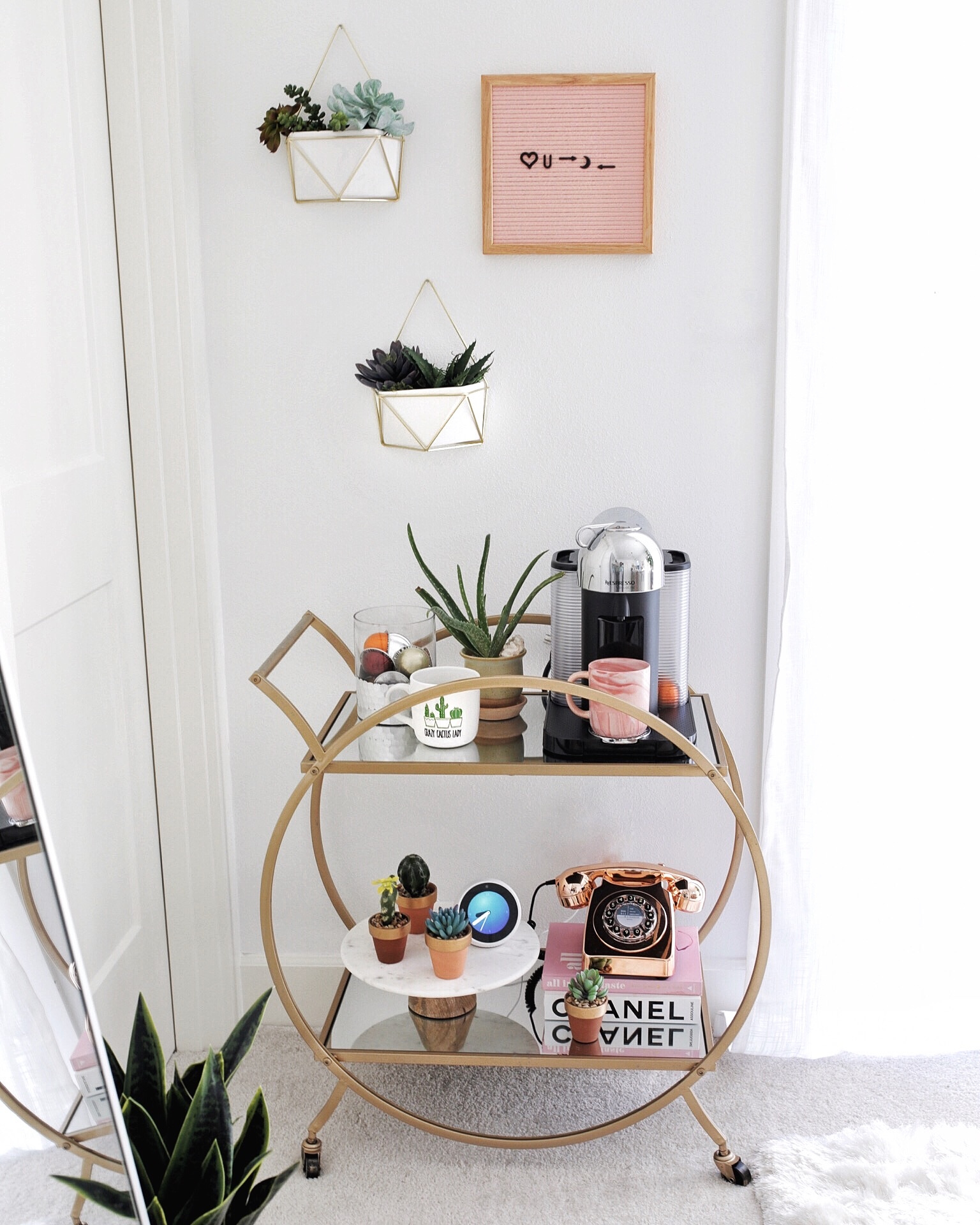 How Style Bar Cart Out Alcohol Gypsy Tan