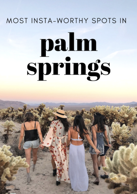 Most Instagram-Worthy Places in Palm Springs Guide What To Do Gypsy Tan