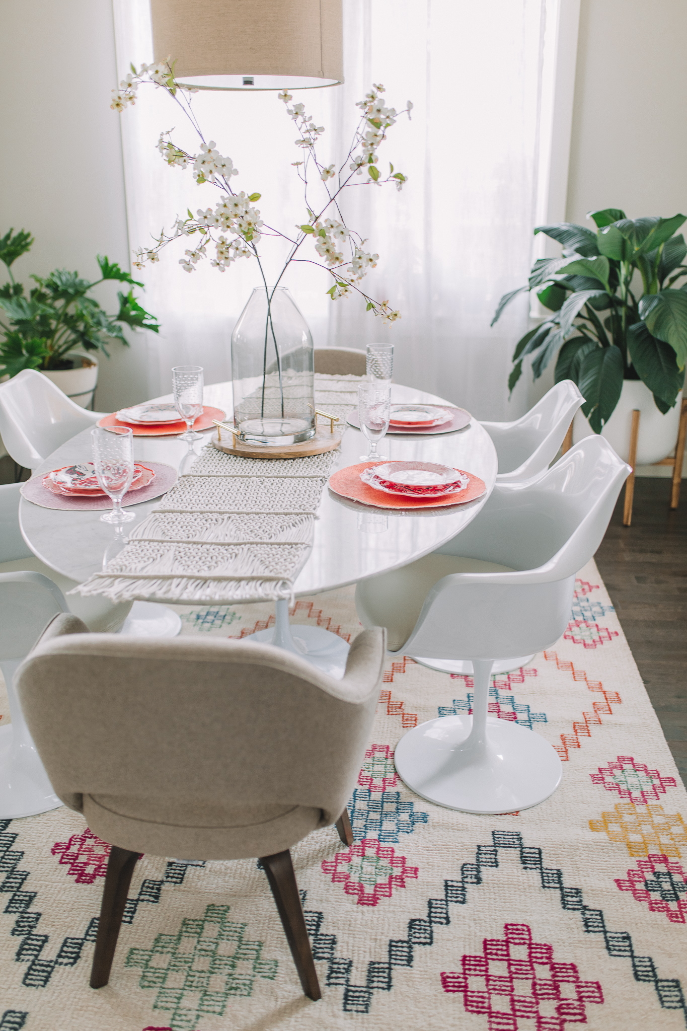 Dining Room Reveal Rovce Concepts Marble Tulip Table Gypsy Tan - Rove concepts tulip table