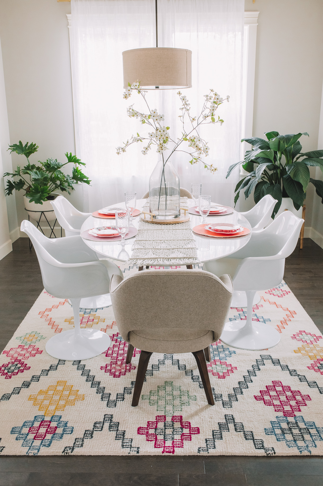 Dining Room Reveal Rove Concepts Marble Tulip Table Gypsy Tan - Rove concepts tulip table
