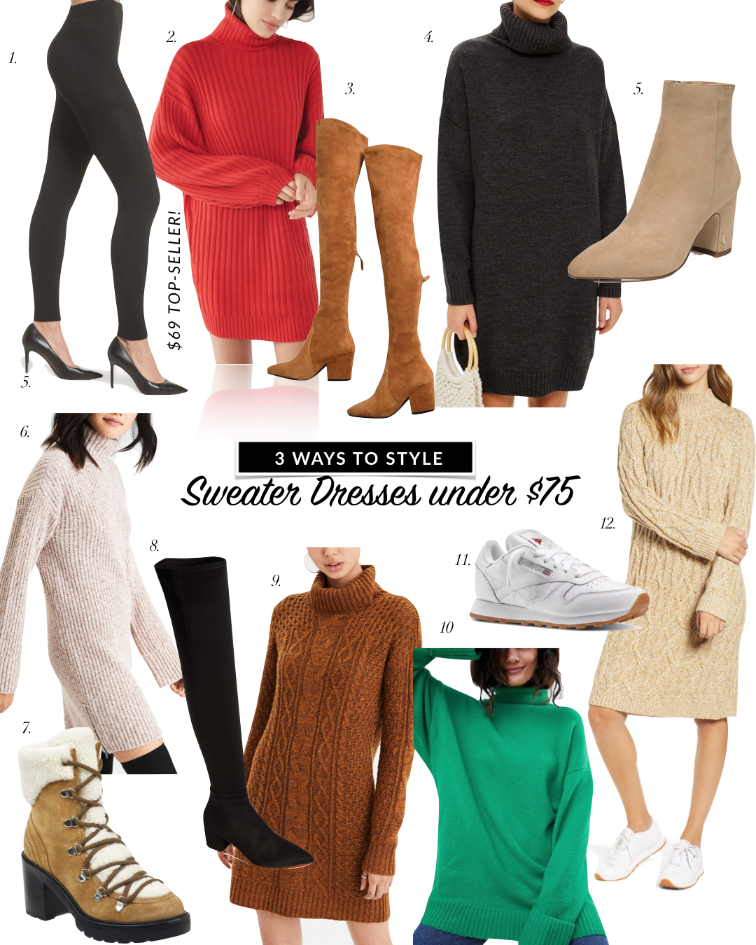 Sweater Dress Outfit Ideas + Favorite Sweater Dress with Boots