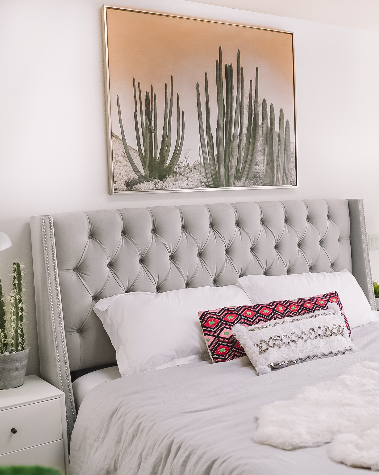 Picture of: Bedroom Tufted Headboard Gypsy Tan