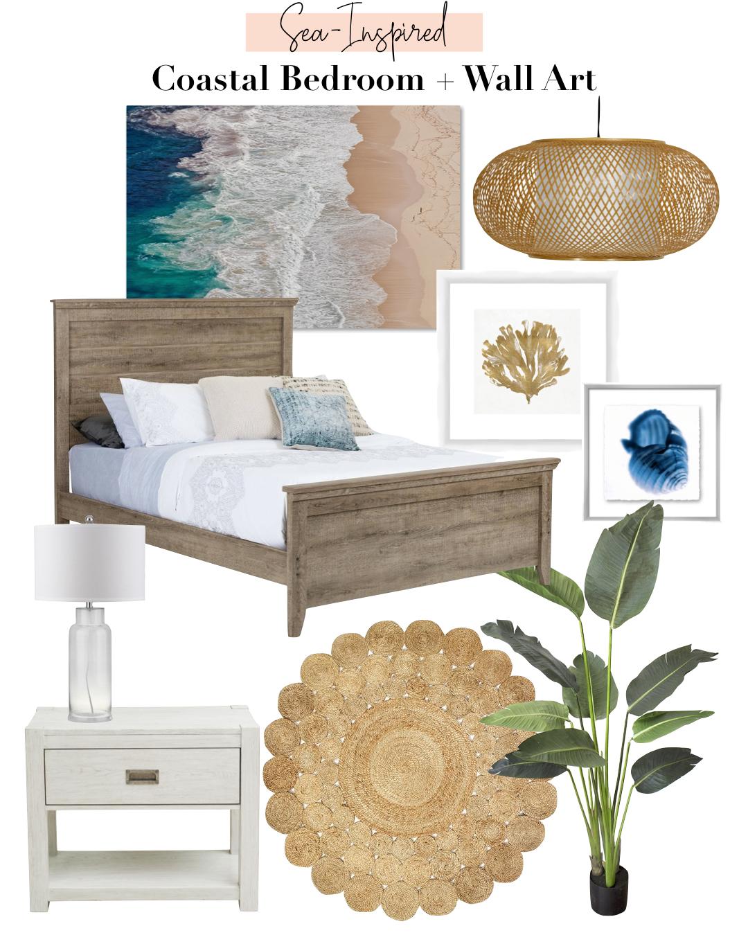Coastal Bedroom + Wall Art with Walmart | Gypsy Tan