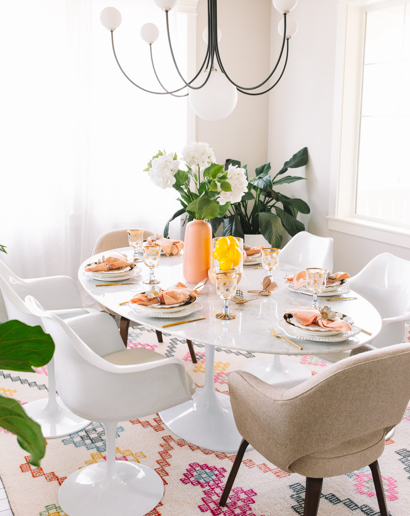 Table Setting With Mackenzie Childs Gypsy Tan