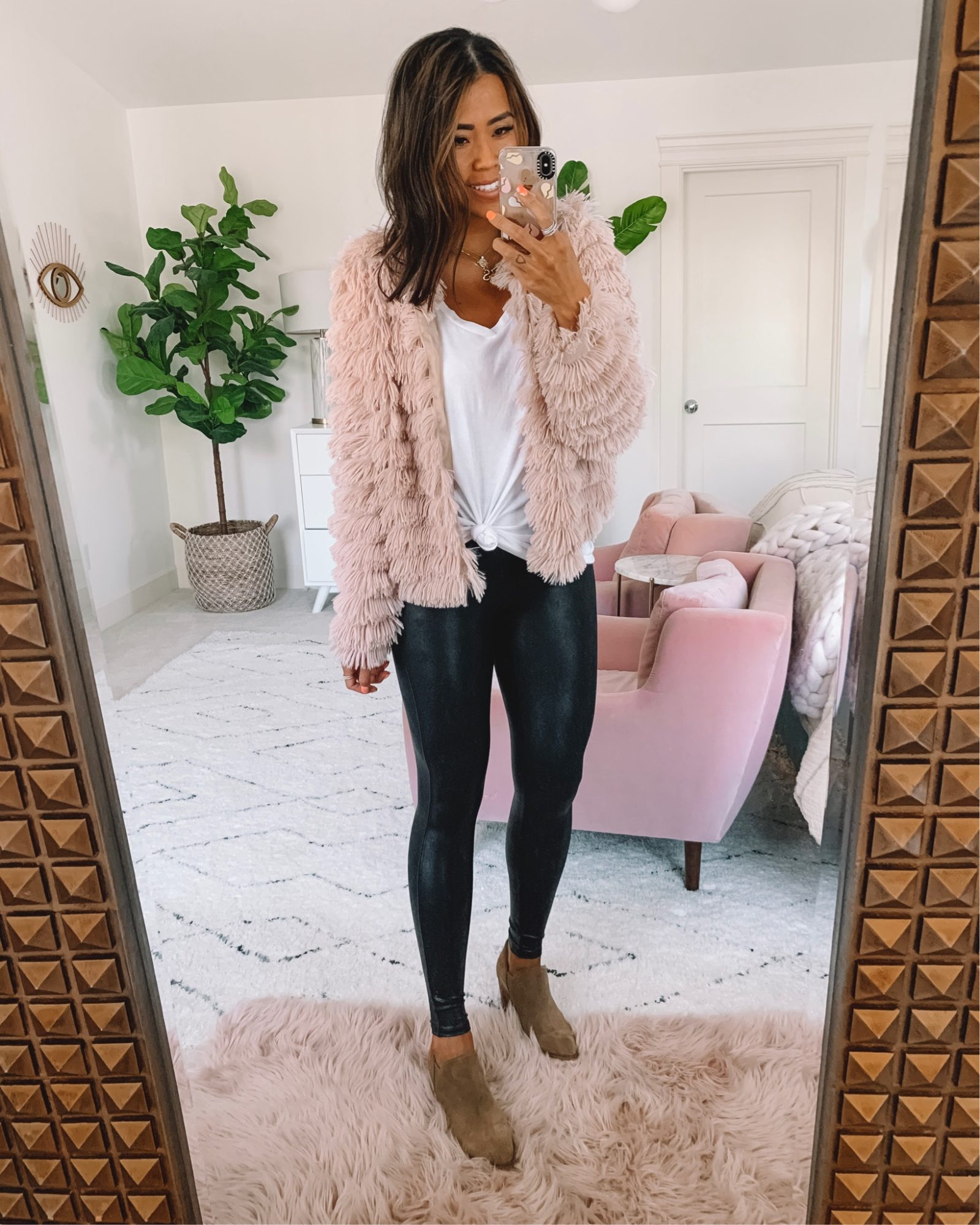 What To Wear With Leather Leggings Spanx Faux Leather