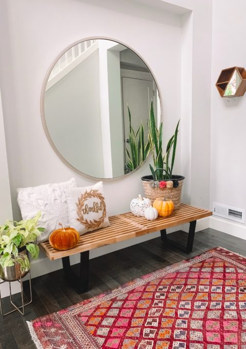 Entryway Decor with Home Depot